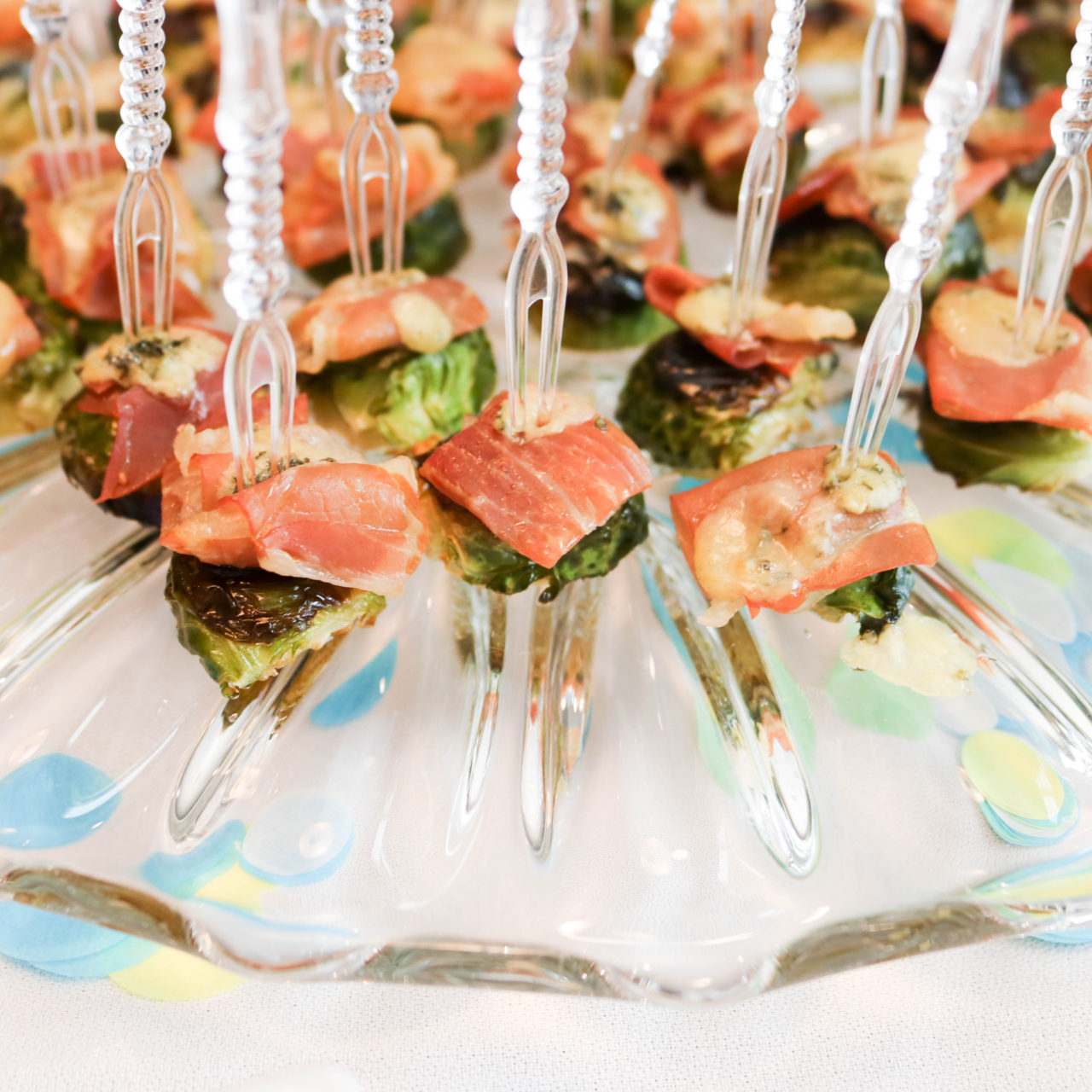 Brussels Sprouts, Prosciutto, and Blue Cheese